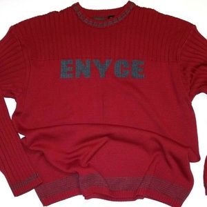 ENYCE Maroon and Gray Crew Neck Sweater 3XL